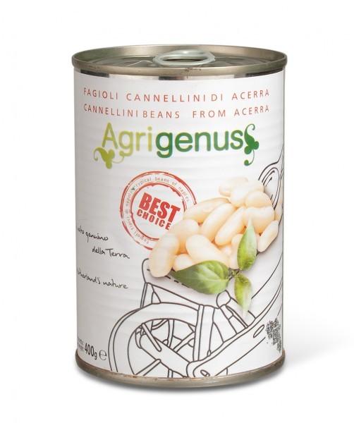 Weiße Cannellini Bohnen aus Acerra in Salzlake