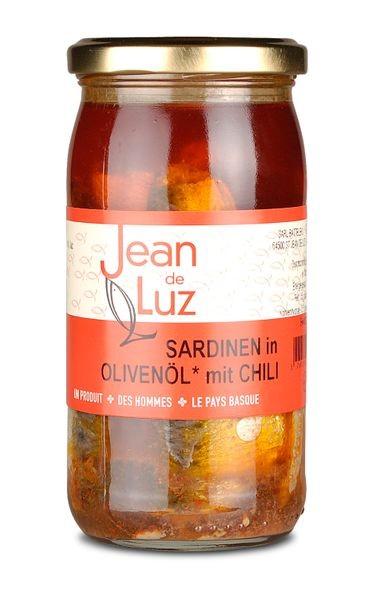 Sardinen in Olivenöl mit Piment d'Espelette