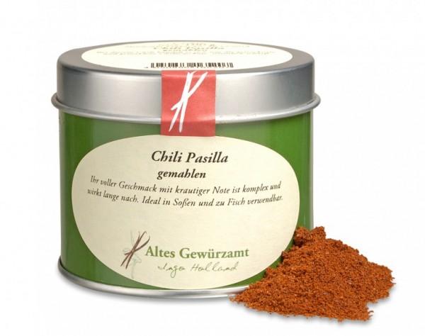 Chili Pasilla, gemahlen