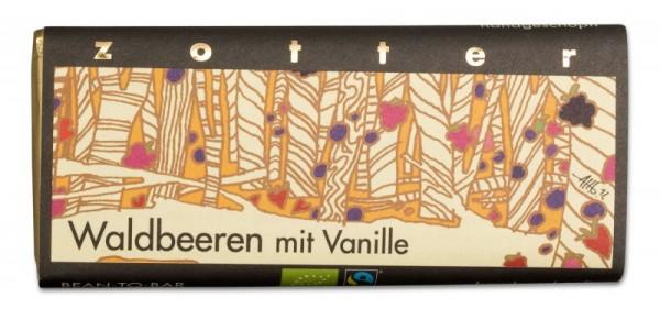 Waldbeere mit Vanille - Handgeschöpfte Schokolade [Bio]