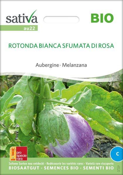 Aubergine 'Rotondo bianca Sfumata di Rosa' - Saatgut