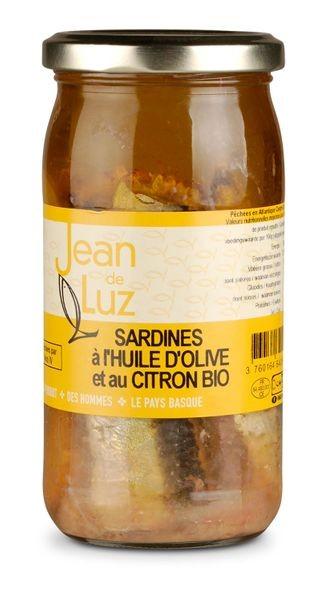 Sardinen in Olivenöl mit Zitrone