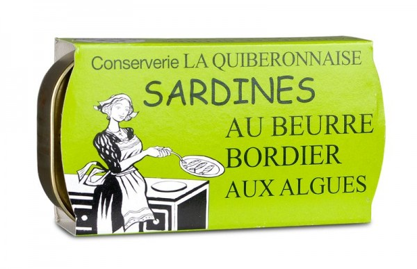 La Quiberonnaise Sardinen mit Bordier Butter und Algen