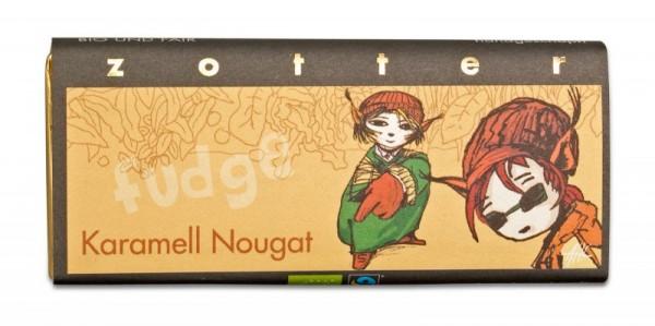 Karamell-Nougat - Handgeschöpfte Schokolade [Bio]