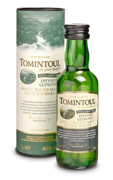 Tomintoul Peaty Tang Single Malt Whisky Miniature