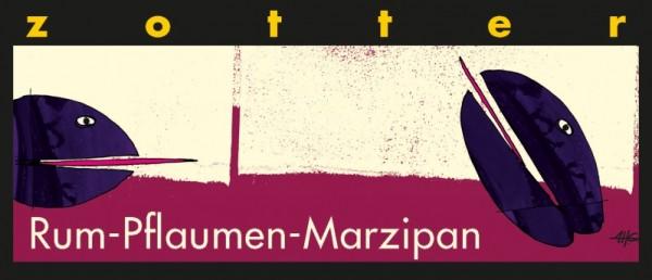 Zotter handgeschöpft Rum Pflaume Marzipan