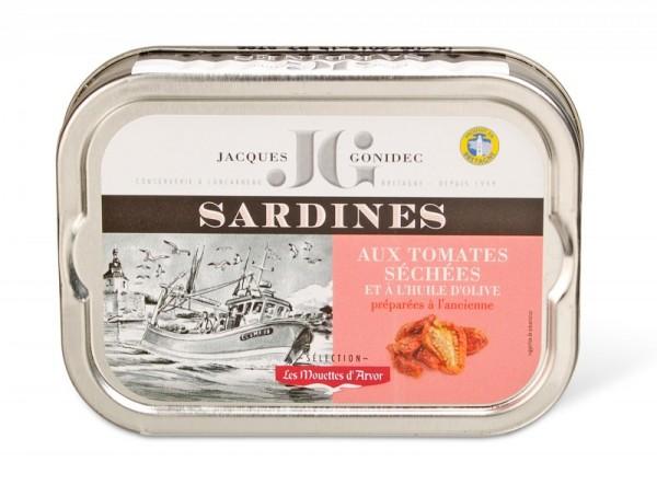 Sardinen in Olivenöl mit getrockneten Tomaten