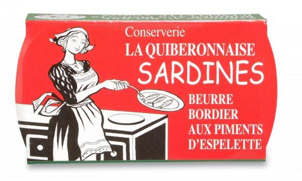 Sardinen in Bordier Butter mit Piment d'Espelette, Jahrgang 2016