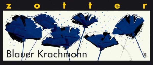 Blauer Krachmohn- Handgeschöpfte Schokolade [Bio]