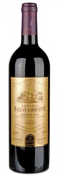 2011 BORDEAUX ROUGE AOC, Château Ballan-Larquette