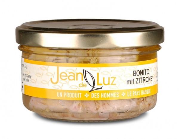 Bonitofilets in Olivenöl mit Zitrone