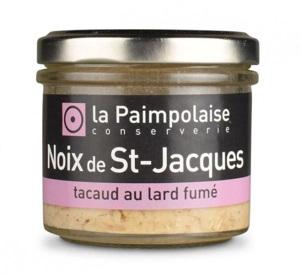 Noix de St-Jacques, tacaud et lard fumé