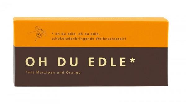 OH DU EDLE Weihnachtsschokolade mit Marzipan-Orange