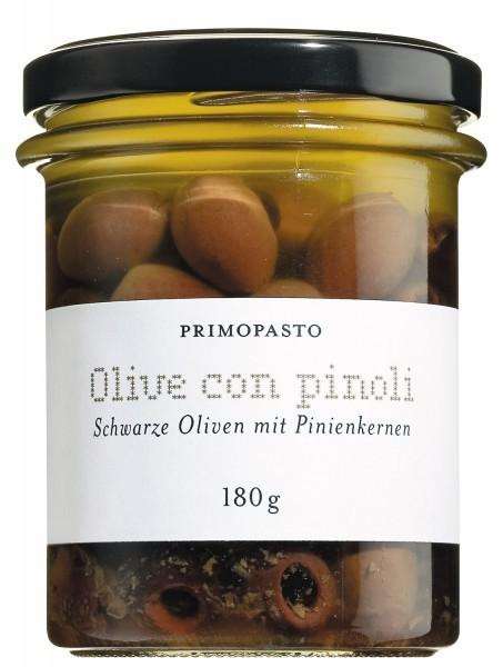 Olive nere con pinoli, Oliven mit Pinienkernen